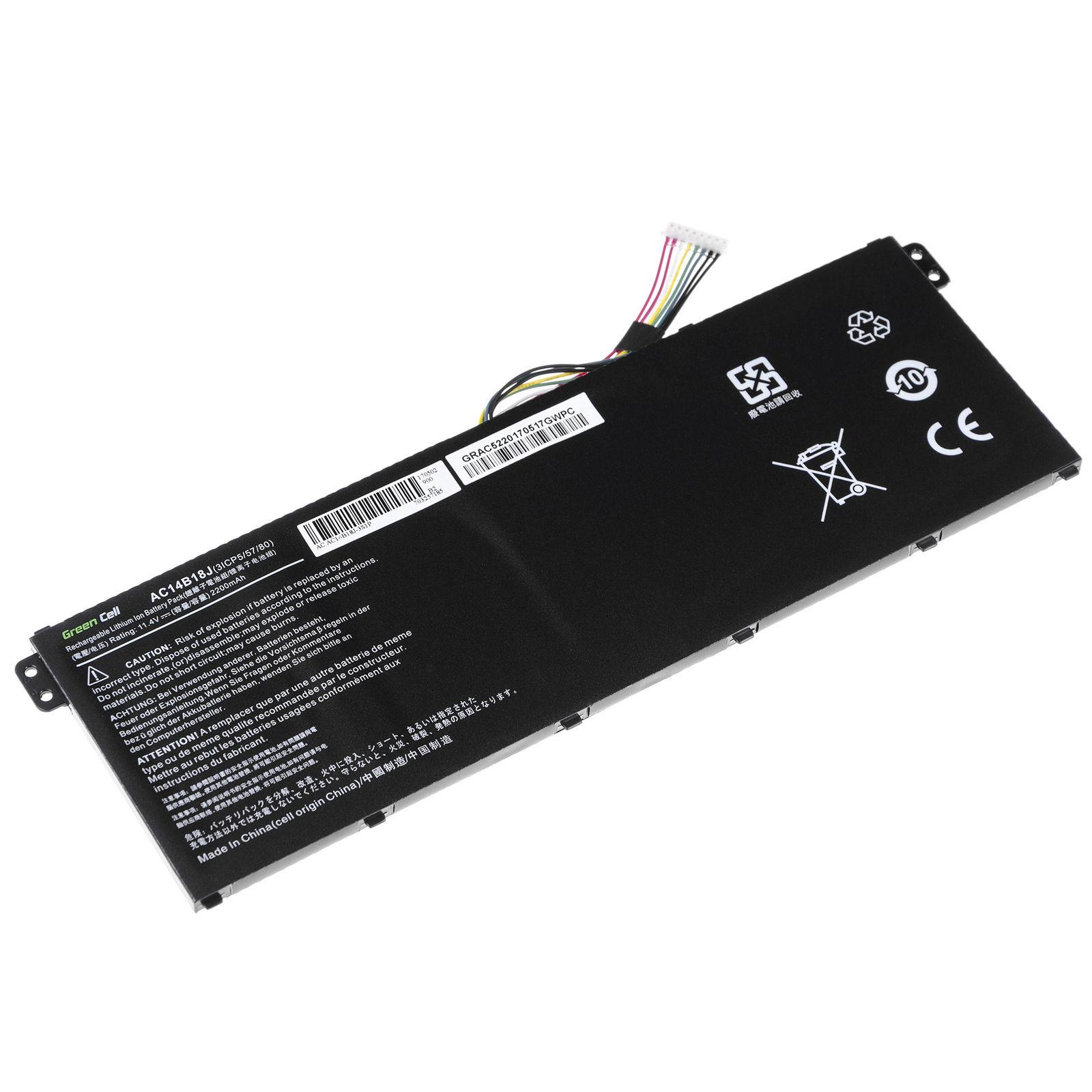 akku für Acer Extensa 2519-P560 2200mAh (kompatibel)