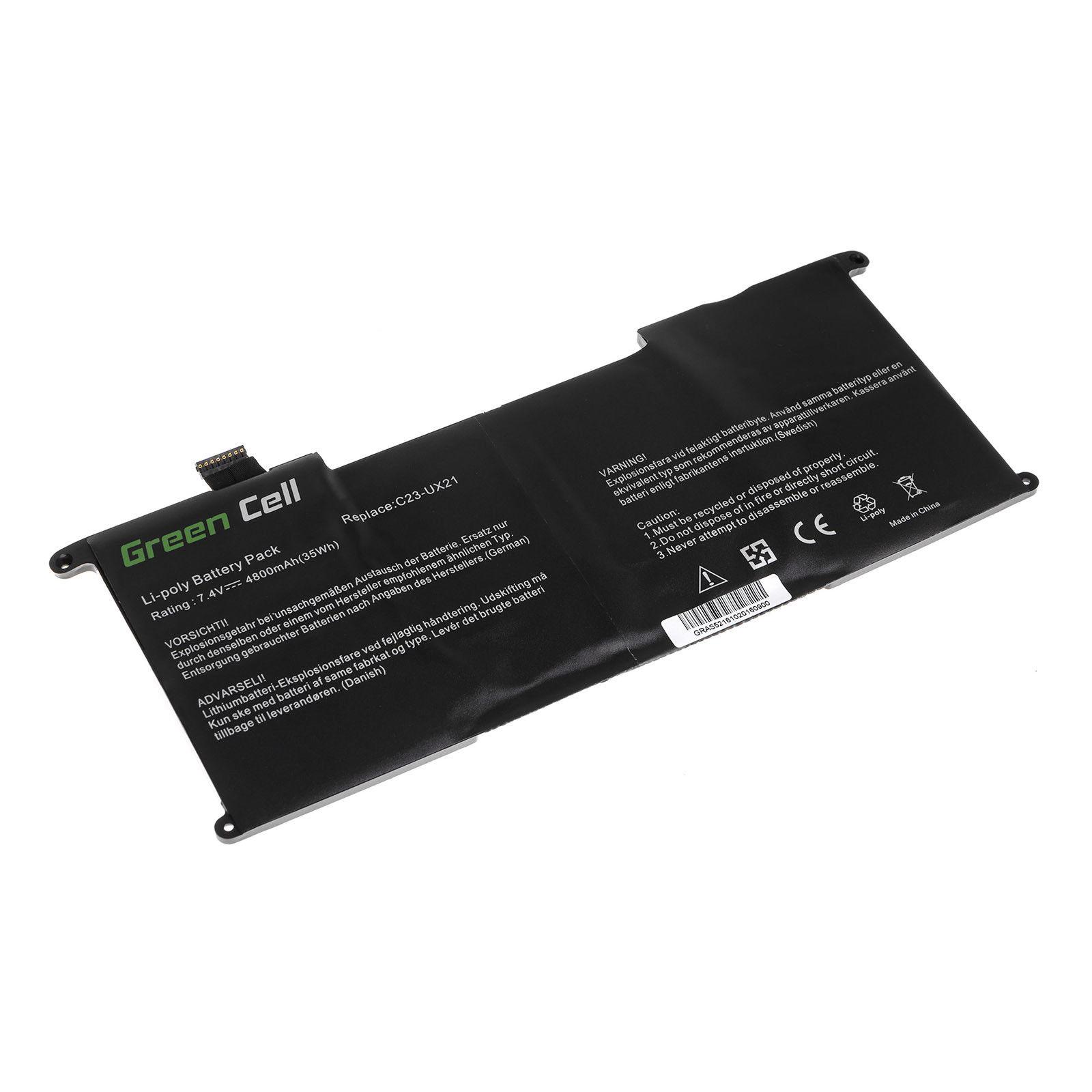 akku für Asus UX21 Ultrabook UX21 UX21A UX21E UX21E-DH52 C23U (kompatibel)