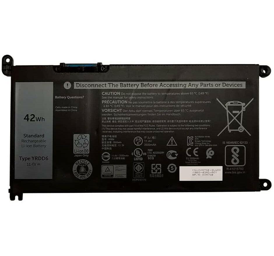 akku für YRDD6 Dell Inspiron 3480 3481 3482 3490 3493 3590 3593 (kompatibel)